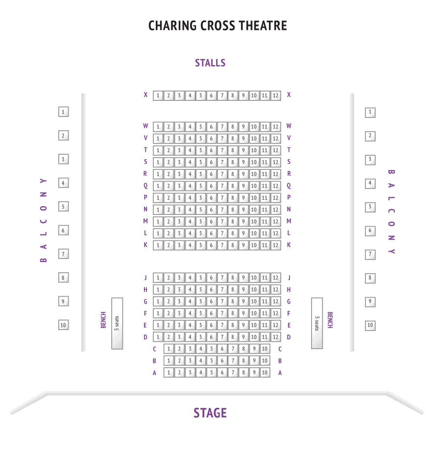 Charing Cross Theatre Seating Plan