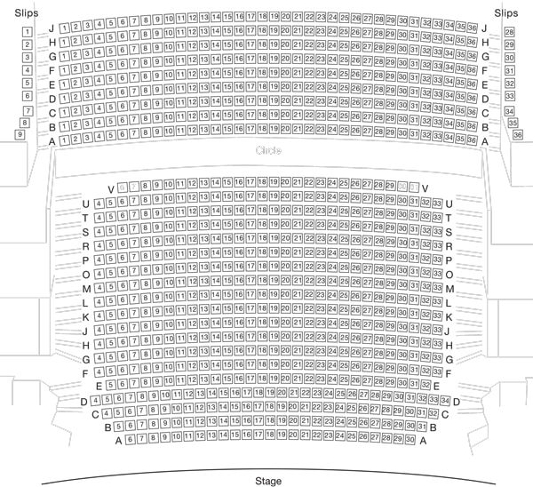Lyttelton Theatre at the National Theatre Seating Plan