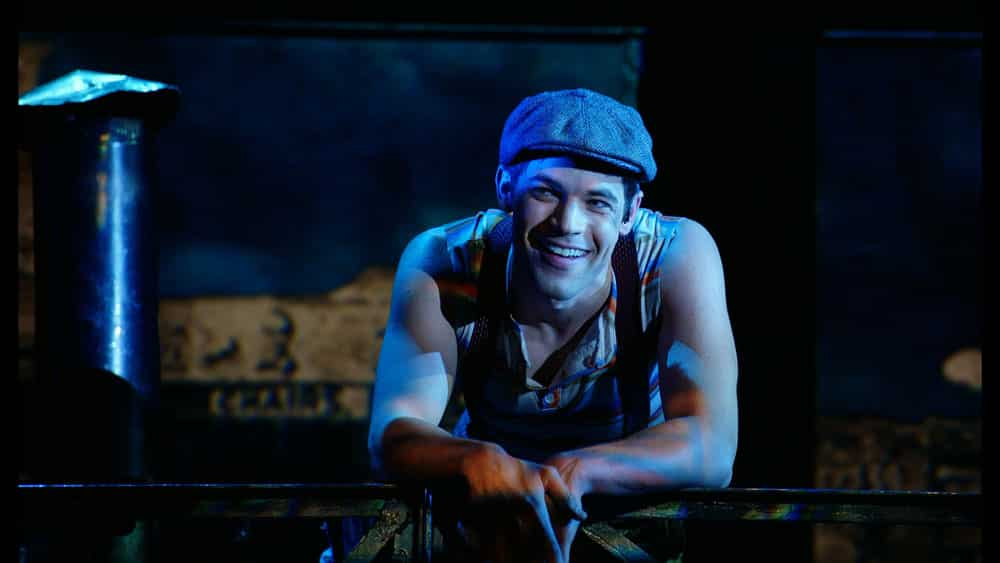 Jeremy Jordan in Newsies The Movie Event