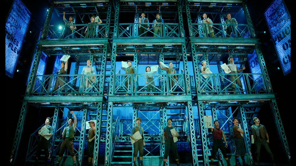 Torbin Ost's stunning set design for Newsies
