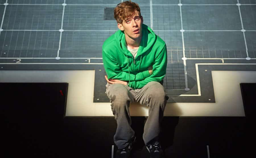 Olivier Award-winner Luke Treadaway in The Curious Incident Of The Dog In The Night Time