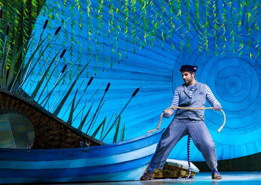 Simon Lipkin as Ratty in The Wind In The Willows at the London Palladium