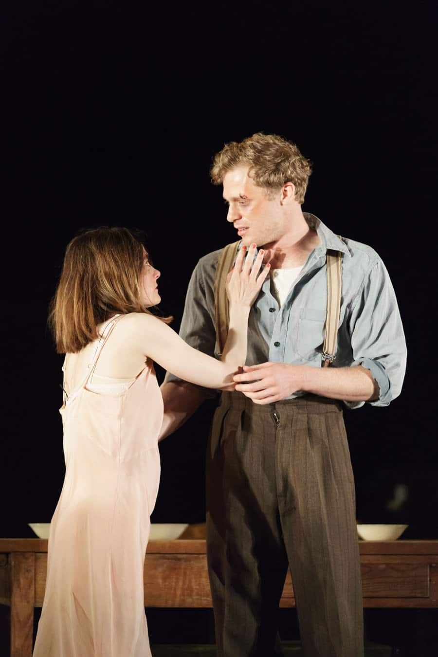 Shirley-Henderson-(Elizabeth-Laine)-and-Sam-Reid-(Gene-Laine)-in-Girl-from-the-North-Country-at-The-Old-Vic-(