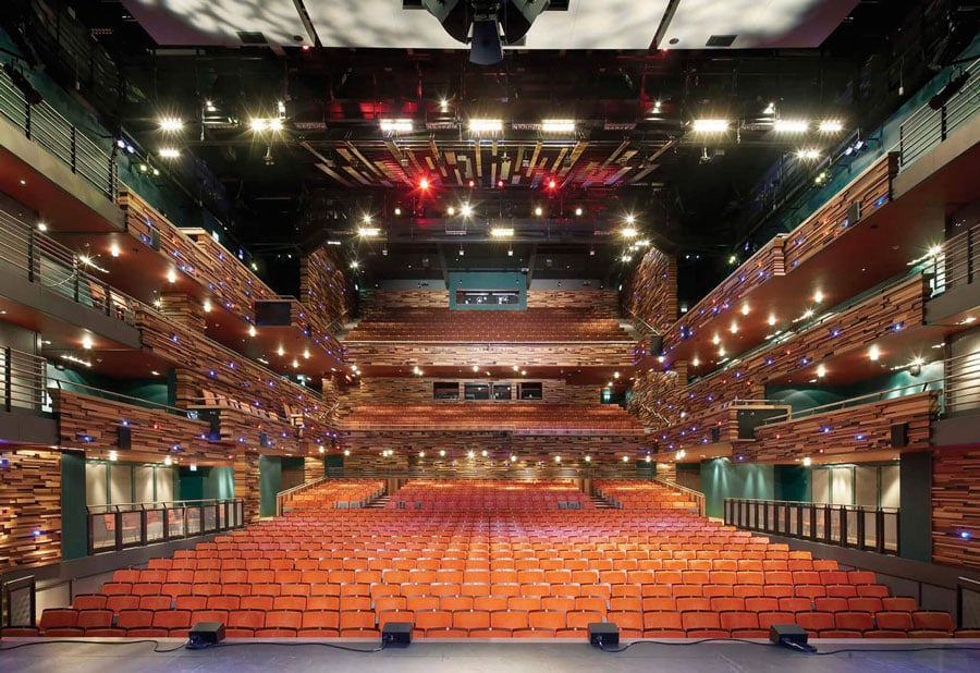 The auditorium of the Aylesbury Waterside Theatre