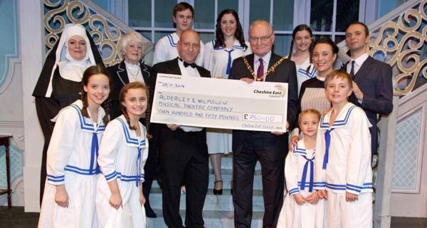 Alderney and Wilmslow Musical Theatre Company receive council grant