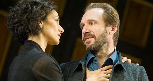 Ralph Fiennes and Indira Varma in Shaw's Man and Superman at the National Theatre