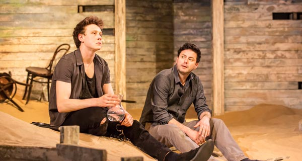 George MacKay and Dominic Rowan in Ah Wilderness at the Young Vic Theatre in London