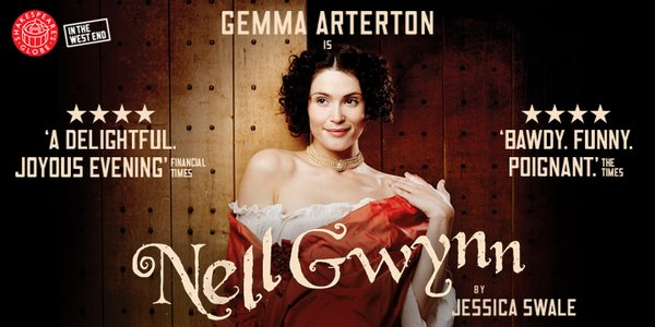 Nell Gwynn starring Gemma Arterton at the Apollo Theatre London