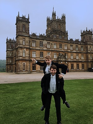 Bounder and Cad at Highclere Castle
