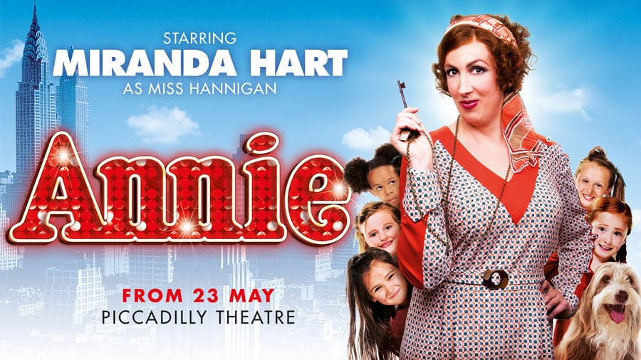 Book tickets for Miranda Hart in Annie at the Piccadilly Theatre