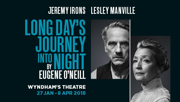 Jeremy Irons and Lesley Manville star in Eugene O'Neill's Long Day's Journey Into Night