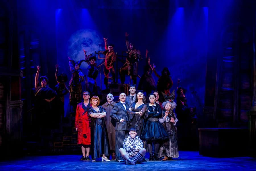 The cast of The Addams Family