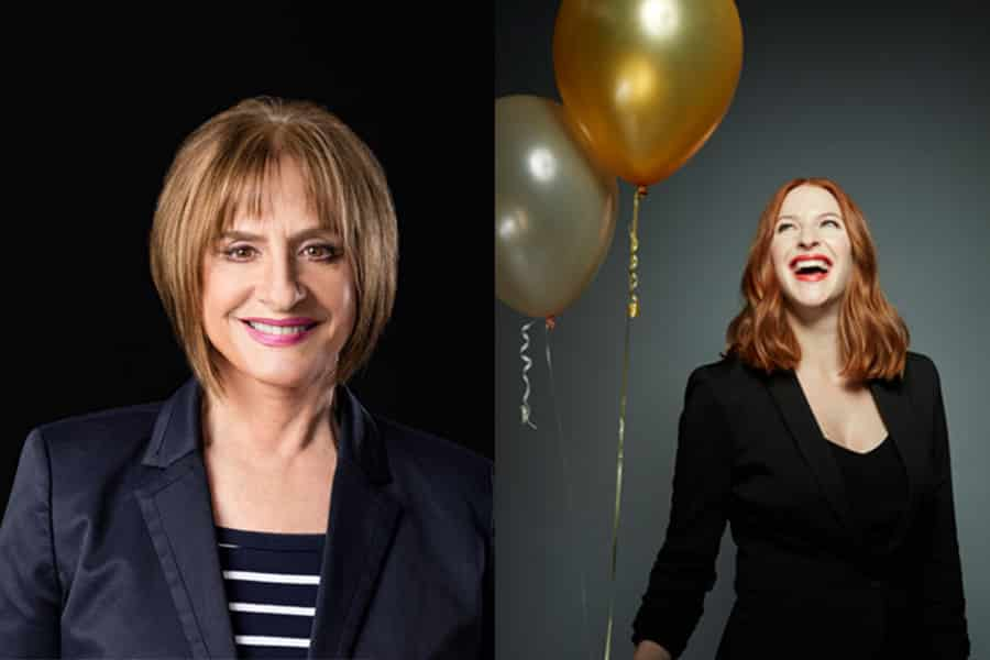 Patti LuPone and Rosalie Craig in Stephen Sondheim's Company at Gielgud Theatre