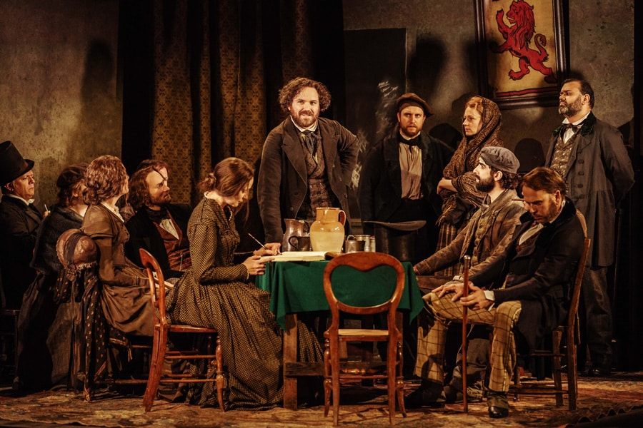 Rory Kinnear in Young Marx at the Bridge Theatre
