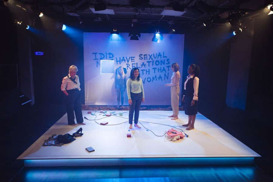 Image result for devil with a blue dress, bunker theatre