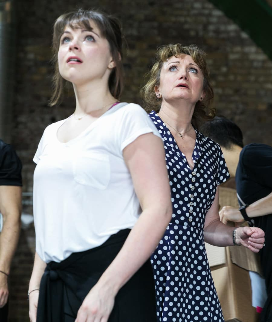 The Rink stars Caroline O'Connor and Gemma Sutton at Southwark Playhouse