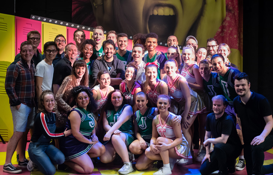 Lin-Manuel Miranda visits the cast of Bring It On