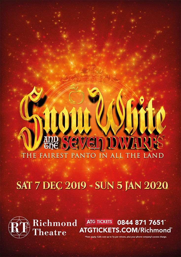 Christmas Panto Snow White is in Richmond Theatre 2019