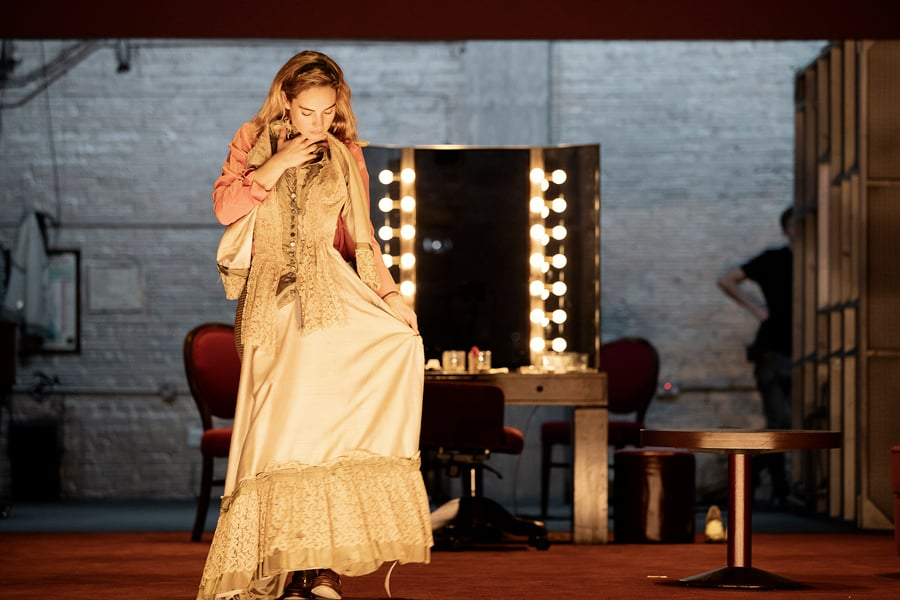 Lily James All About Eve Noel Coward Theatre