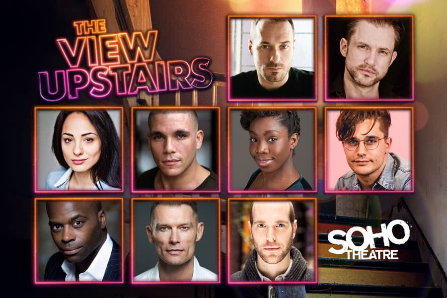 Andy Mientus, John Partridge and Declan Bennett to star in The View Upstairs at Soho Theatre
