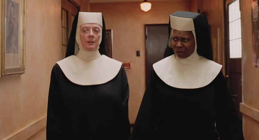 Maggie Smith Whoopi Goldberg Sister Act movie