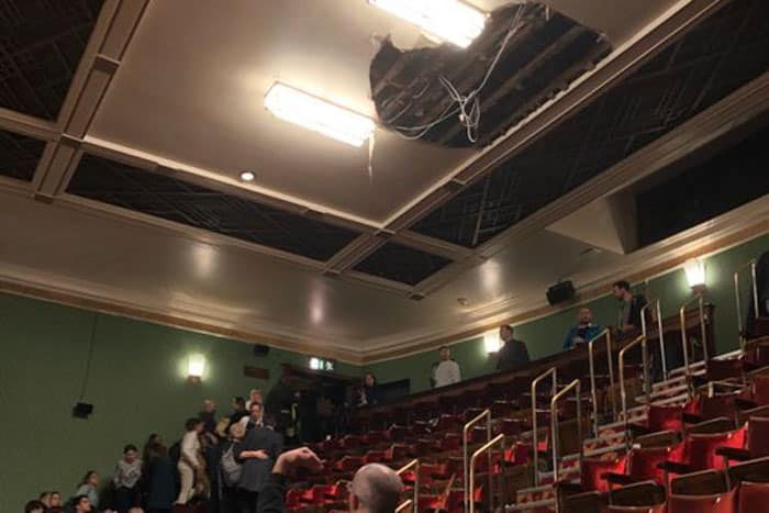Ceiling collapse at Piccadilly Theatre stops Salesman performance - Updated