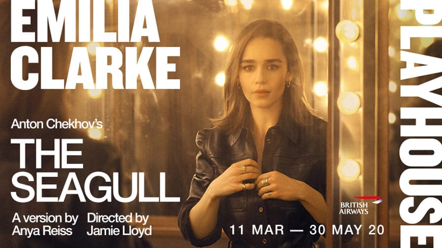 Emilia Clarke to star in The Seagull at Playhouse Theatre, London